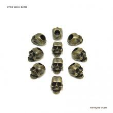 VOLK SKULL BEAD / ANTIQUE GOLD