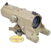 ECO MOD3 4X34 Scope Red & Blue ill / TAN